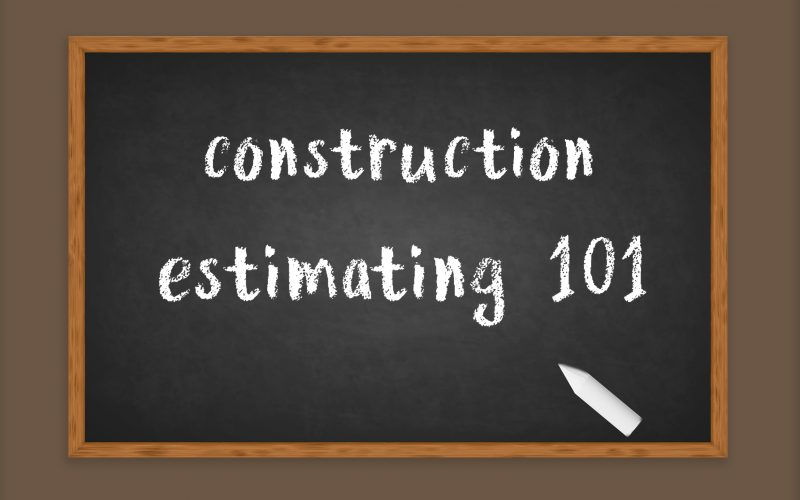 construction estimating 101